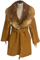 Ermanno Scervino Yellow Fox Coat for Women