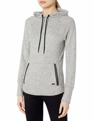 Andrew Marc Women's Hachi Long Sleeve Hooded Funnel Neck Pullover