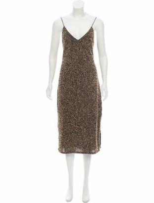 Alice + Olivia Embellished Midi Dress w/ Tags Gold
