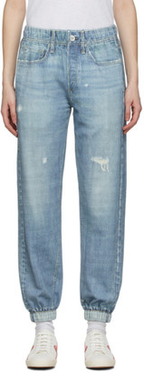 Rag & Bone Blue French Terry Miramar Jeans