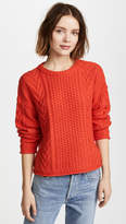 Madewell Solid Rib Cable Crew Neck Shirt
