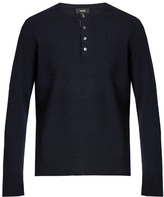 Vince Long-sleeved Cashmere Henley Sweater