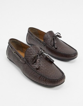 Silver Street woven loafer in brown leather