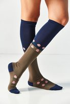 Out From Under Flower Colorblock Knee Sock