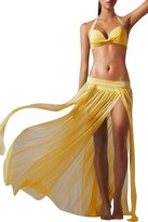Dovia Women's Sexy Side Slit Mesh Beach Skirt Swimsuit Cover Ups Swimwear