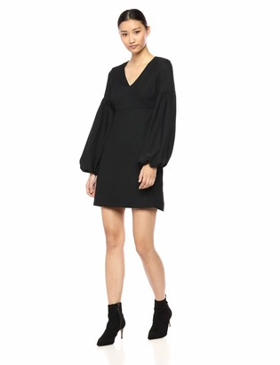 AVEC LES FILLES Women's Basic Dress with Exaggerated Sleeves