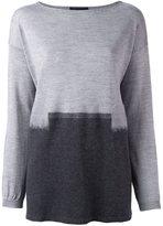 Les Copains back slit sweater