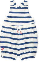 Ralph Lauren Girl Striped Slub Cotton Romper