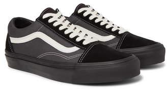 Vans Ua Og Old Skool Lx Leather-Trimmed Canvas And Suede Sneakers