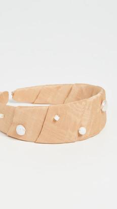 Lizzie Fortunato Confetti Headband In Butterscotch Pearl