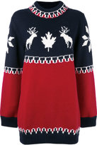 DSQUARED2 Maxi Wool Pullover With Reindeers
