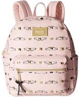 Betsey Johnson Studded Signature Mini Backpack