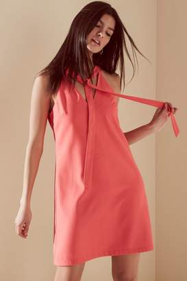 Girls On Film Outlet Coral Bow Front Tunic Dress
