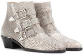 Chloé Susanna Snakeskin Ankle Boots