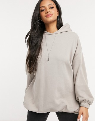 ASOS DESIGN super oversized cocoon hoodie with side pockets in coffee