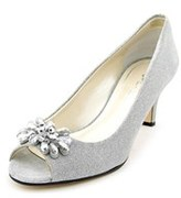Caparros Marissa Women Peep-toe Canvas Heels.