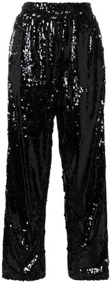 Faith Connexion Sequin Embellished Split Trousers