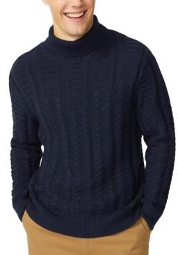 Nautica Men's Textured Cable Sweater
