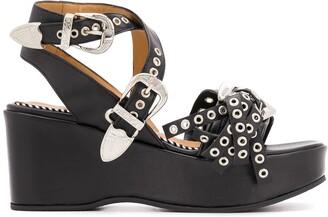 Toga Pulla Open Toe Wedge Sandals