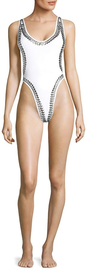 Thumbnail for your product : Norma Kamali Marissa Stud One-Piece Swimsuit