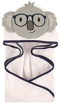"Hudson Baby Nerdy Koala"" Hooded Towel - gray/white, one size"