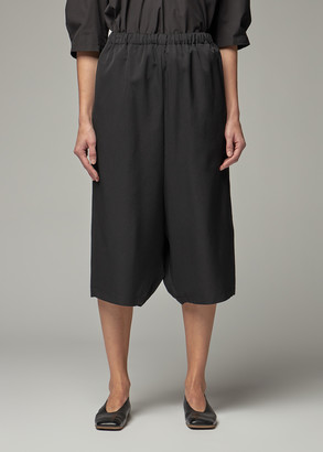 Comme des Garcons Women's Wool Gabardine Drop Crotch Trouser Pants in Black Size 1