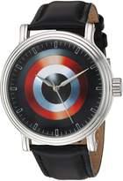 Marvel Men's 'Captain America' Quartz Metal Casual Watch, Color: (Model: WMA000021)