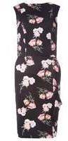 Dorothy Perkins Womens **Tall Floral Print Pencil Dress- Black