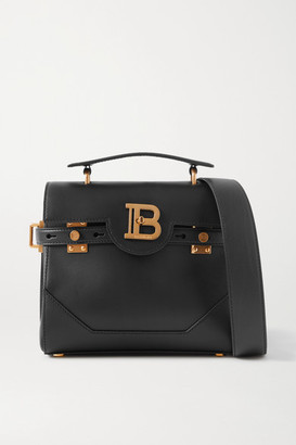 Balmain B-buzz 23 Leather Shoulder Bag - Black