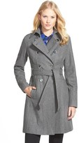 GUESS Women's Wool Blend Trench Coat