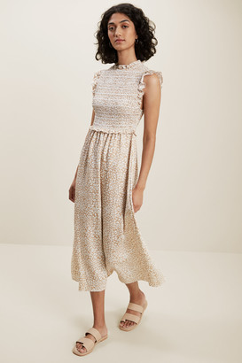 Seed Heritage Ocelot Shirred Dress