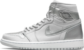Jordan Air 1 Retro High CO. JP 'Metallic Silver' Shoes - 7