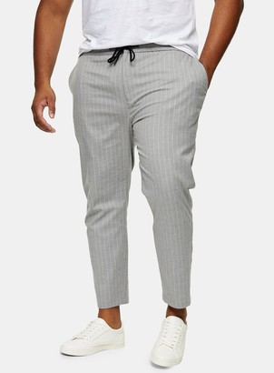 Topman BIG & TALL Grey and White Stretch Skinny Trousers*