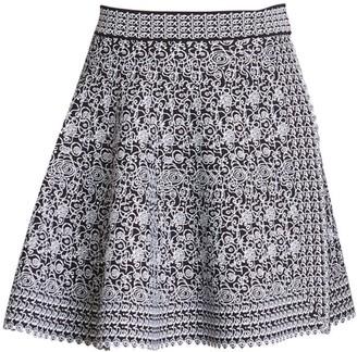 Alaia Labyrinth Knit Short Skirt