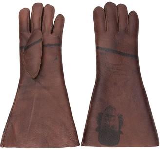 Undercover printed midi gloves
