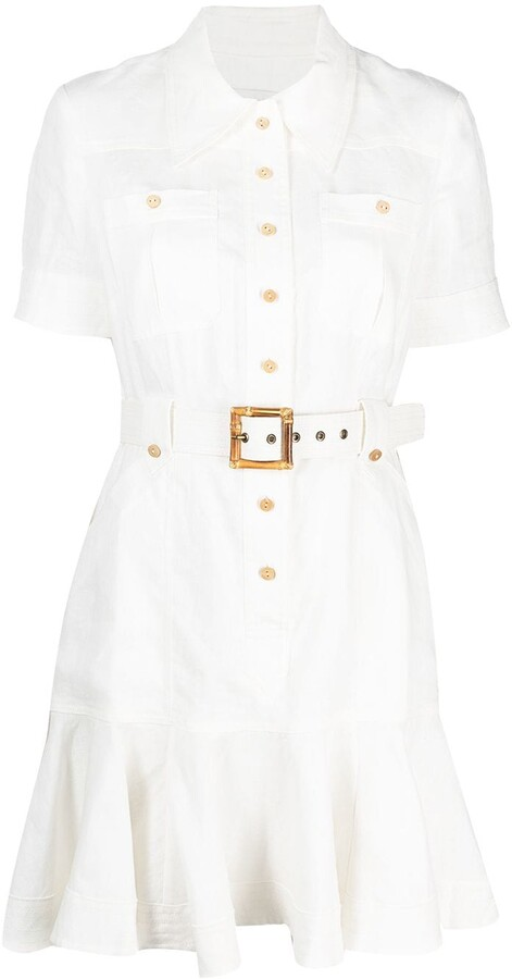 Zimmermann Belted Waist Shortsleeved Dress