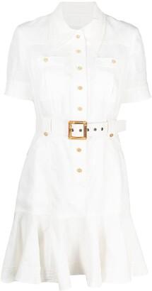 Zimmermann Belted Waist Shortsleeved Dress