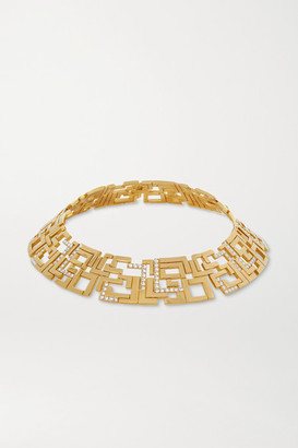 Leda Madera Goldie Gold-plated Swarovski Crystal Choker - one size
