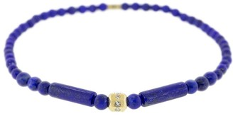 Luis Morais 18kt Yellow Gold, Diamond And Lapis Lazuli Beaded Bracelet