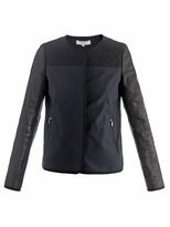 Vanessa Bruno Quilted shoulder and leather jacket