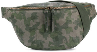 Mr & Mrs Italy Big Camouflage Leather Belt Bag