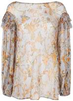 Zimmermann Painted Heart Ruffle Blouse