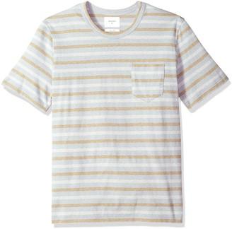 Billy Reid Men's Line Drawn Stripe Pocket T-Shirt