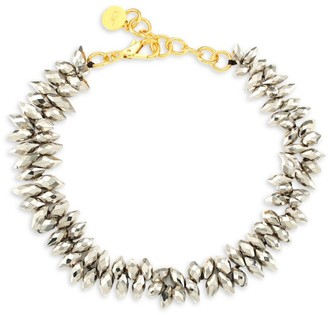 Nest 22K Goldplated Pyrite Statement Necklace