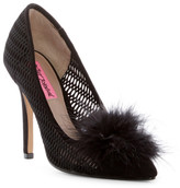 Betsey Johnson Olvia Maribou Lattice Pump