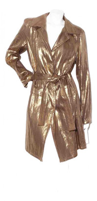 Christian Dior Gold Linen Trench coats