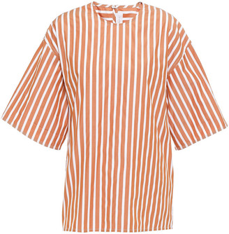 Victoria Beckham Striped Cotton-poplin Blouse