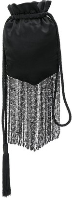 Galvan Cascade beaded fringed pouch