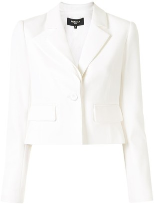 Paule Ka Layered Detail Cropped Blazer