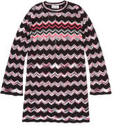 Autumn Cashmere Flare Zigzag Stitch Dress